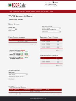 TCOR Insurance Calculator